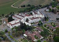 aerial photograph VA Hospital, Yountville, Napa County, California
