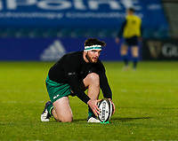 2nd January 2021; RDS Arena, Dublin, Leinster, Ireland; Guinness Pro 14 Rugby, Leinster versus Connacht; Tom Daly of Connacht warms up prior to kickoff