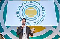 Rotterdam, Netherlands, 09 Februari, 2018, City Hall, Official Draw,   Anouncer Jan Kooijman <br /> Photo: Tennisimages/Henk Koster