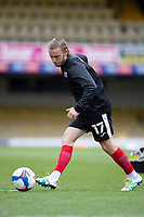 Matt Jay of Exeter City warming up during Southend United vs Exeter City, Sky Bet EFL League 2 Football at Roots Hall on 10th October 2020