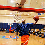 Senario Hillman practices at Basketball City in New York City on August 31, 2006.  The high school players were in town for the Elite 24 Hoops Classic, which brought together the top 24 high school basketball players in the country regardless of class or sneaker affiliation.
