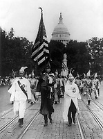Leading the Klu Klux Klan parade which was held in Washington, D.C. today 1926 Sept. 13; on the right is Mr. J.M. Fraser ... from Houston, Texas