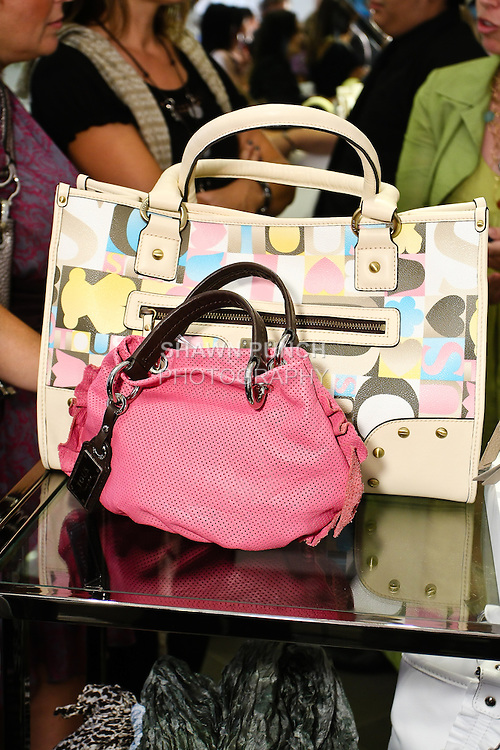 """Tous Spring Summer handbags on sale during Nina Garcia's """"Look Book: What To Wear For Every Occasion"""", book release party with Marie Claire at Tous Rockefeller Center, August 17, 2010."""