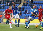 22.09.2019 St Johnstone v Rangers: Scott Arfield tests the keeper
