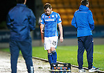 St Johnstone v Kilmarnock...07.11.15  SPFL  McDiarmid Park, Perth<br /> Liam Craig is sent off by ref Crawford Allan<br /> Picture by Graeme Hart.<br /> Copyright Perthshire Picture Agency<br /> Tel: 01738 623350  Mobile: 07990 594431