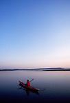 Woman kayaker, Puget Sound, Skagit Bay, the Skagit River estuary, Washington State, Pacific Northwest, USA, Sarah Shannon, model released,.