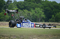 Apr. 28, 2012; Baytown, TX, USA: NHRA top fuel dragster driver Antron Brown during qualifying for the Spring Nationals at Royal Purple Raceway. Mandatory Credit: Mark J. Rebilas-