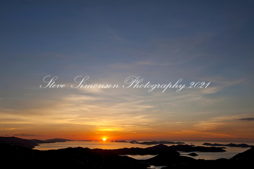 Earth Day 2011<br /> Sunrise over the British Virgin Islands<br /> from St. John <br /> U.S. Virgin Islands