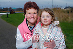 Little Sofia Foley taking her nan Lena Foley for a walk in the Tralee Bay Wetlands on Saturday.