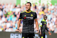 John Terry of Chelsea reacts during the Premier League match between Swansea City and Chelsea at The Liberty Stadium, Swansea, Wales, UK. 11 September 2017