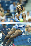 Venus Williams (USA) goes ahead in the first set against Irina Falconi (USA)  5-3