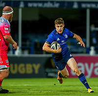 2nd October 2020; RDS Arena, Dublin, Leinster, Ireland; Guinness Pro 14 Rugby, Leinster versus Dragons; Garry Ringrose (Leinster) looks for a gap to break through