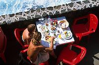 Spanien, Kanarische Inseln, La Palma, Restaurant La Fajana bei Barlovento