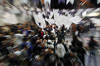 """SÃO PAULO,SP - 21.07.2017 - CARNAVAL-SP - Com o enredo """"Guarus - Na Aurora da Criação, a Profecia Tupi... Prosperidade e Paz aos Mensageiros de Rudá! O Grêmio Recreativo Cultural e Escola de Samba Gaviões da Fiel Torcida, promove sua primeira eliminatória para escolha do samba enredo Carnaval 2018 do grupo especial do Carnaval de São Paulo, na quadra da escola, zona norte de São Paulo, na noite desta sexta feira, 21. (Foto:Nelson Gariba/Brazil Photo Press)"""