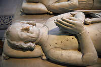 Tomb of Charles Count of Alencon (1297 - 1346) son of Charles 1st of France and brother of Philippe VI of Valois.  The Gothic Cathedral Basilica of Saint Denis ( Basilique Saint-Denis ) Paris, France. A UNESCO World Heritage Site.