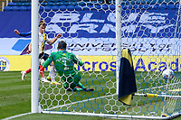 Ronan Curtis of Portsmouth hidden scores the first goal past Simon Eastwood of Oxford United during Portsmouth vs Oxford United, Sky Bet EFL League 1 Play-Off Semi-Final Football at Fratton Park on 3rd July 2020