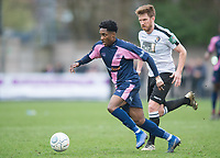 Nyren Clunis of Dulwich Hamlets during the Vanarama National League South match between Dulwich Hamlets and Dartford at Champion Hill, London, England. on 2 March 2019. Photo by Andrew Aleksiejczuk / PRiME Media Images.