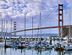 Fort Baker Cove, Golden Gate Bridge, Golden Gate National Recreation Area, Marin County, California