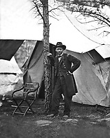Gen. Ulysses S. Grant at Cold Harbor, Va. 1864.   Mathew Brady Collection. (Army)<br /> Exact Date Shot Unknown<br /> NARA FILE #:  111-B-36<br /> WAR & CONFLICT BOOK #:  122