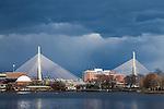 The Leonard P Zakim Bunker Hill Bridge, Boston, Massachusetts, USA