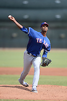 Texas Rangers pitcher David Perez (71) during an Instructional League game against the Cincinnati Reds on October 7, 2013 at Goodyear Training Complex in Goodyear, Arizona.  (Mike Janes/Four Seam Images)