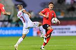 Jung Wooyoung of South Korea (R) fights for the ball with Abdulwahab Ali Alsafi of Bahrain (L) during the AFC Asian Cup UAE 2019 Round of 16 match between South Korea (KOR) and Bahrain (BHR) at Rashid Stadium on 22 January 2019 in Dubai, United Arab Emirates. Photo by Marcio Rodrigo Machado / Power Sport Images