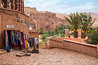 Morocco.  Souvenir Shop on Path Leading to Ait Benhaddou Ksar, a World Heritage Site.