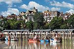 Grossbritannien, England, East Sussex, Rye: Fischereihafen am Fluss Rother unterhalb der Altstadt | Great Britain, England, East Sussex, Rye: fishing harbour on the River Rother below the old town