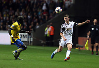 Saturday 28 September 2013<br /> Pictured: Ben Davies of Swansea (R) against Bacary Sagna of Arsenal (L)<br /> Re: Barclay's Premier League, Swansea City FC v Arsenal at the Liberty Stadium, south Wales.
