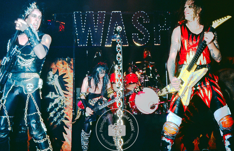 WASP -Blackie Lawless, Chris Holmes- performing live at the Tower Theater in Phila, Penn Jan 1985.