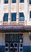 Texas: Galveston--Shearn-Moody Plaza Entrance, c. 1933.   It is Santa Fe Building, E. A. Harrison, Arch. 1931.