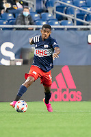 FOXBOROUGH, MA - MAY 16: Maciel #13 of New England Revolution during a game between Columbus SC and New England Revolution at Gillette Stadium on May 16, 2021 in Foxborough, Massachusetts.