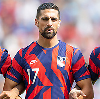 KANSAS CITY, KS - JULY 18: Sebastian Lletget #17 of the United States during a game between Canada and USMNT at Children's Mercy Park on July 18, 2021 in Kansas City, Kansas.