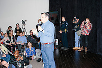 Texas senator and Republican presidential candidate Ted Cruz speaks at a town hall at Crossing Life Church in Windham, New Hampshire, on Tues. Feb. 2, 2016. The day before, Cruz won the Iowa caucus.
