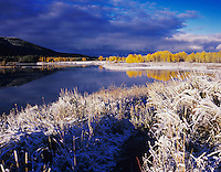 Oxbow Bend at sunrise after snow fall, Grand Teton NP,Wyoming, USA