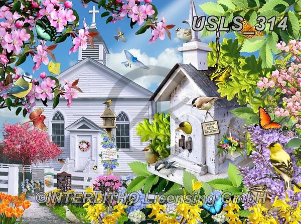 Lori, LANDSCAPES, LANDSCHAFTEN, PAISAJES, paintings+++++Time For Church_3_72_Sunsout_2020,USLS314,#l#, EVERYDAY ,puzzle,puzzles
