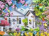 Lori, LANDSCAPES, LANDSCHAFTEN, PAISAJES, paintings+++++Time For Church_3_72_Sunsout_2020,USLS314,#l#, EVERYDAY ,puzzle,puzzles