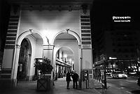 - Novi Ligure (Alessandria), portici e bar nel centro città<br /> <br /> - Novi Ligure (Alessandria), arcades and cafe in the city center