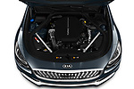 Car Stock 2019 KIA K900 Luxury 4 Door Sedan Engine  high angle detail view