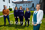 Students graduating from Presentation Secondary School Castleisland standing with the principal and their teacher on Monday. Front: Catriona Broderick (Principal). Back l to r: Padraig Keliher (Teacher), Sarah Walsh, Grace Daly and Lisa Brown.