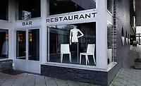 Nederland  Amsterdam   2021.    Amsterdam West.   World Fashion Centre. Bar / Restaurant gesloten.   Foto Berlinda van Dam / HH / ANP.