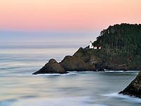 Heceta Lighthouse at sunrise. Oregon