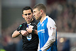 Hearts v St Johnstone…03.02.18…  Tynecastle…  SPFL<br />Referee Andrew Dallas and David Wotherspoon<br />Picture by Graeme Hart. <br />Copyright Perthshire Picture Agency<br />Tel: 01738 623350  Mobile: 07990 594431