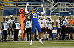 BROOKINGS, SD - MAY 2: Don Gardner #21 of the South Dakota State Jackrabbits celebrates a big play against the Southern Illinois Salukis at Dana J Dykhouse Stadium on May 2, 2021 in Brookings, South Dakota. (Photo by Dave Eggen/Inertia)