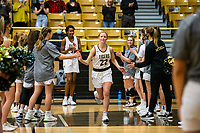 Riley Hayes (22) of Bentonville gets introduced in starting lineup at Tiger Arena, Bentonville, AR January 5, 2021 / Special to NWA Democrat-Gazette/ David Beach
