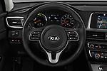 Car pictures of steering wheel view of a 2018 KIA Optima Plug-In Hybrid 4 Door Sedan