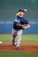 Corpus Christi Hooks starting pitcher Kyle Smith (51) delivers a pitch during a game against the Tulsa Drillers on June 3, 2017 at ONEOK Field in Tulsa, Oklahoma.  Corpus Christi defeated Tulsa 5-3.  (Mike Janes/Four Seam Images)