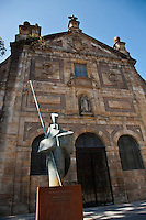Europe/Espagne/Pays Basque/Guipuscoa/Goierri/Lazkao: Couvent des Carmélites de Lazkao. Prototype de façade en rectangle - Monastère bénédictin de Santa Teresa