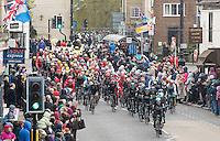Picture by Allan McKenzie/SWpix.com - 29/04/2016 - Cycling - 2016 Tour de Yorkshire, Stage 1: Beverley to Settle - Yorkshire, England - The Tour de Yorkshire peleton comes through Knaresborough.
