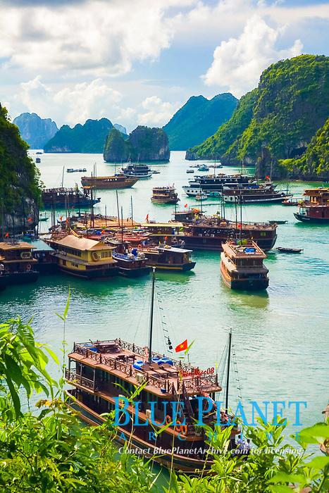 View from Hang Sung Sot Cave. Ha Long Bay. Qu?ng Ninh province, Vietnam.